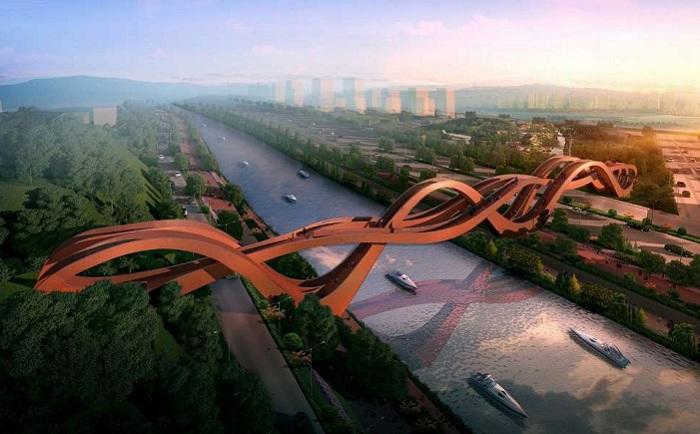 Dragon King Kong Bridge - пешеходный мост в китайском городе Чанша.