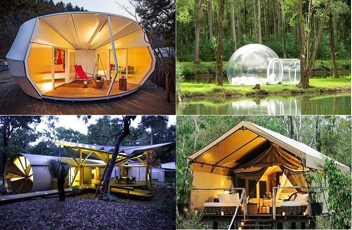 Glamping - гламурные палатки.