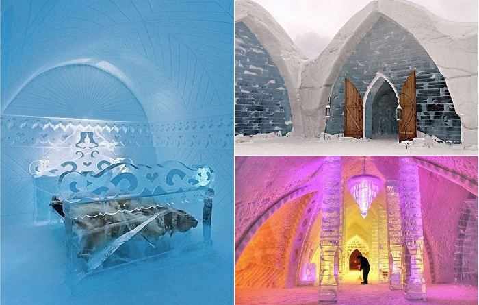 Самые удивительные ледяные отели.