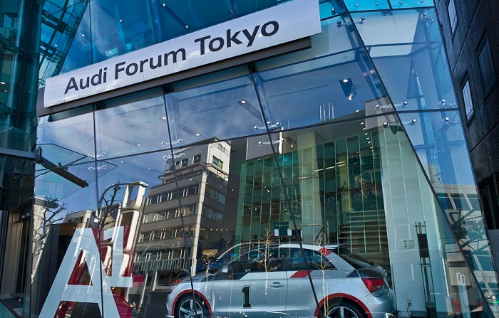Офис компании Audi в Токио.