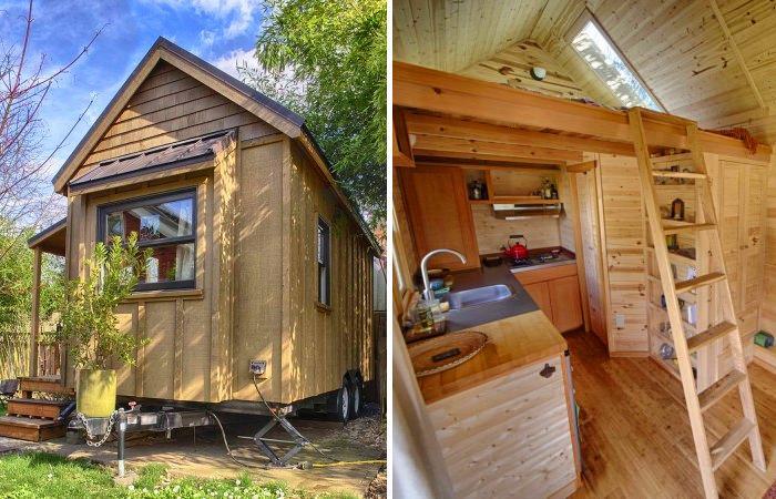 Sweet Pea - уютный деревянный дом на колесах.