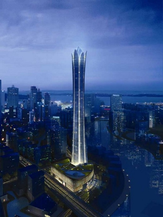 Burj Al Alam - башня в форме цветка в Дубае.
