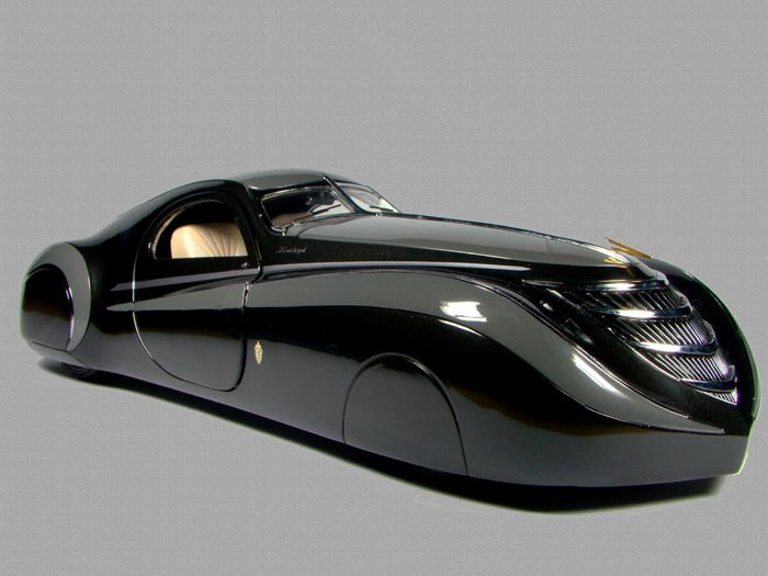 Модель Duesenburg Coupe Simone Midnight Ghost, 1939 год.