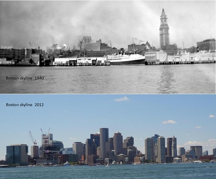 Бостон: тогда и сейчас.