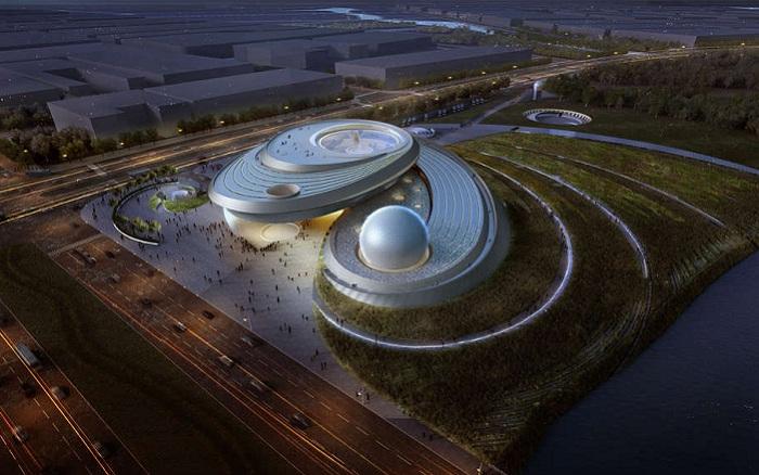 Будущий планетарий в Шанхае.