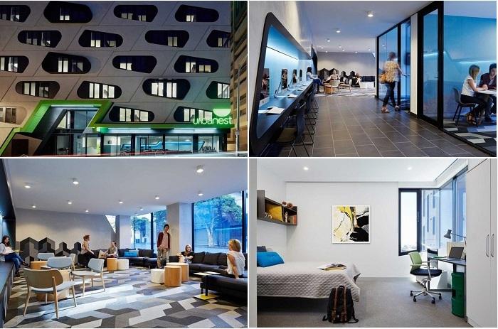 Urbanest - студенческое общежитие в Мельбурне.