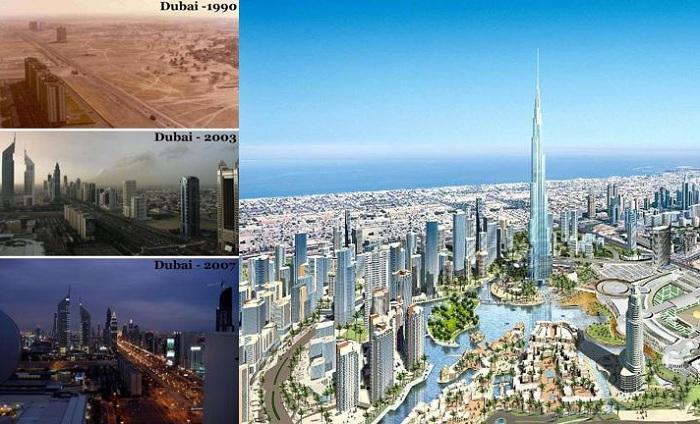 Преображение Дубаи в течение 25 лет.
