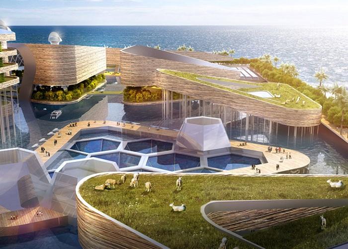 Концепт плавучего города, разработанный компанией AT Design Office.