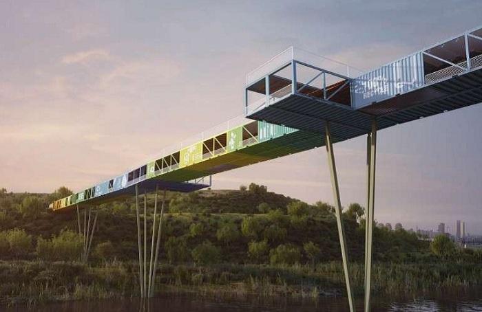 Проект моста архитектурной практики Yoav Messer Architects.