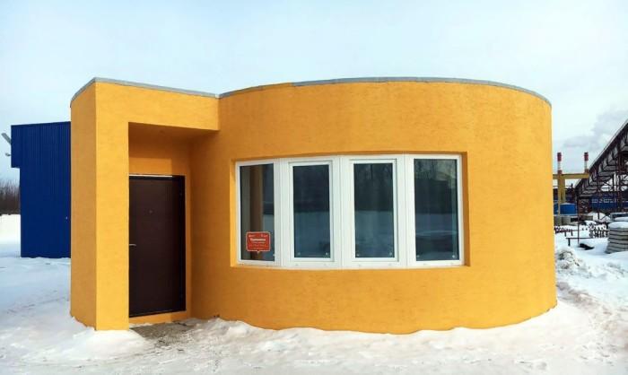 Дом, распечатанный на 3D-принтере.