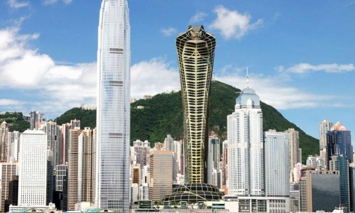 Концепция небоскреба-змеи от дизайнера Vasily Klyukin.