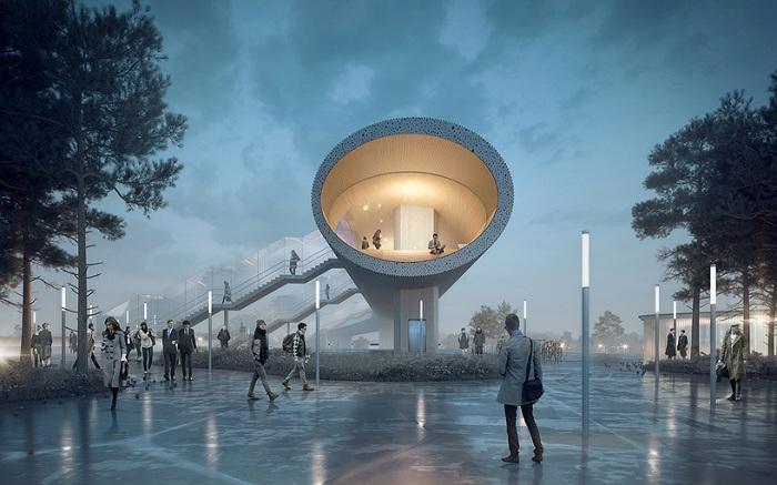 «Kоge North Station» - будущая транспортная развязка в Дании.