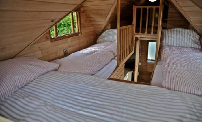 Спальные места на антресоли.