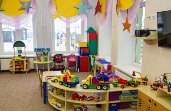 Игровая зона в детском саду «Замок детства».