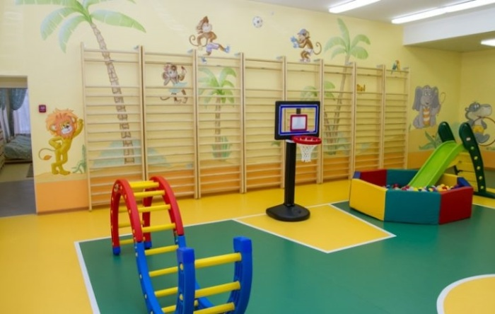 Спортзал в детском сад «Замок детства».
