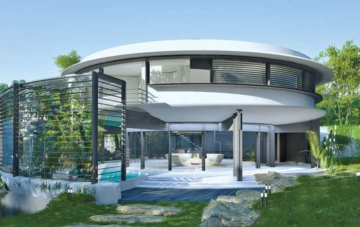 Marine mollusk-inspired Circle House - дом с «зелеными» технологиями.