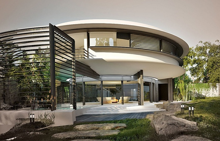 Marine mollusk-inspired Circle House. Концепт экологичного дома.