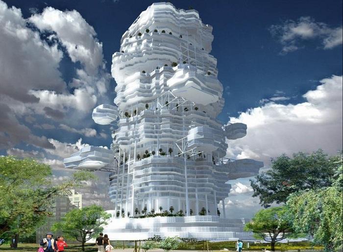 Cloud City - нестандартный концепт жилого комплекса.