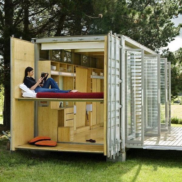 Трансформация дома-контейнера.