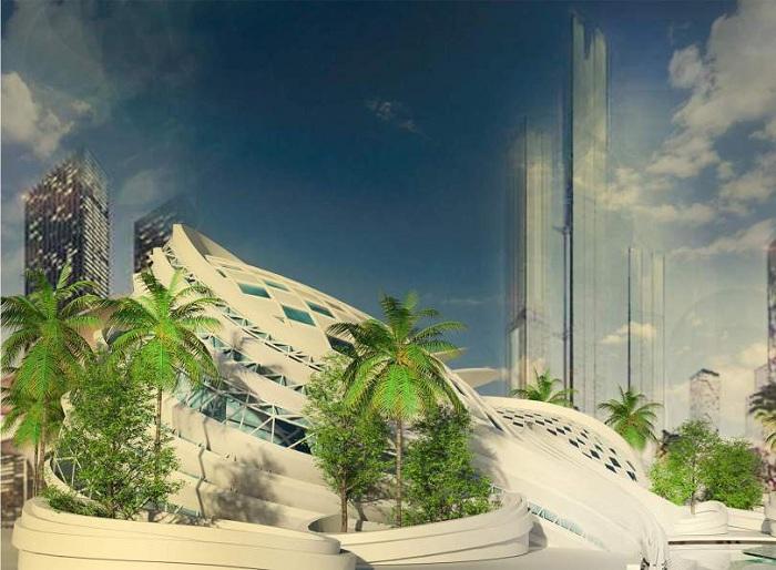 Проект Конференц-центра, предложенный студентом Mohamed Elbangy.