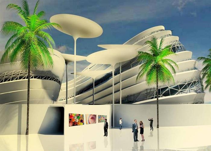 Конференц-центр в Каире (Египет). Проект Mohamed Elbangy.