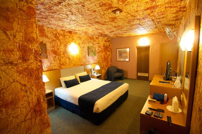 Номер подземного отеля.