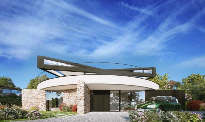 Devon House - концепт дома с вращающейся крышей.