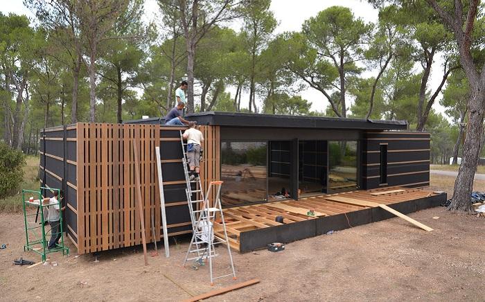 Pop-Up House - энергосберегающий пассивный дом.