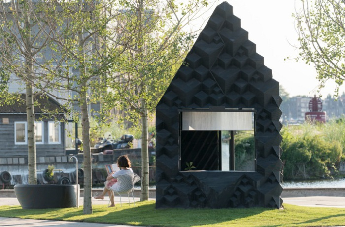 Urban Cabin - домик площадью 8 кв. метров, отпечатанный на 3D-принтере.
