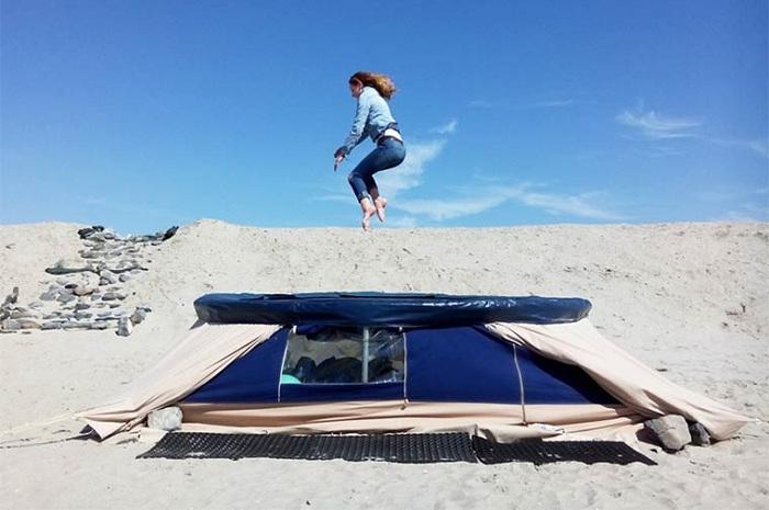 Trampotent - палатка+батут.