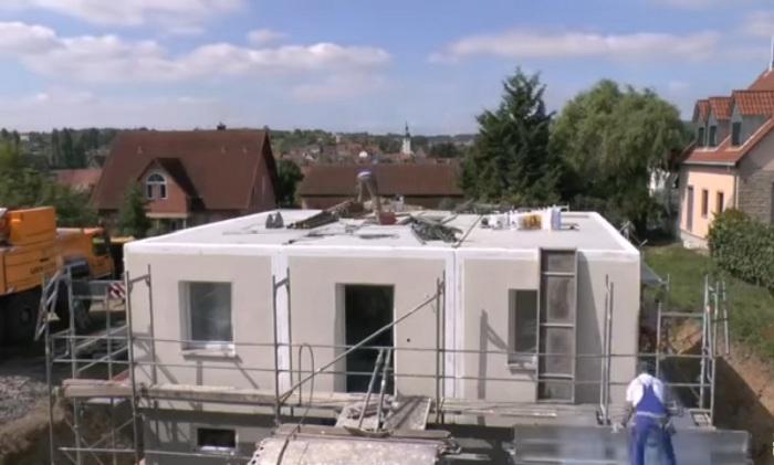 Дома Dennert строятся из немецкого экобетона.
