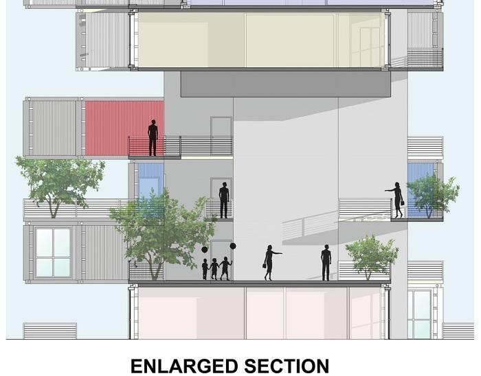 Схема расположения контейнеров в многоэтажном доме.