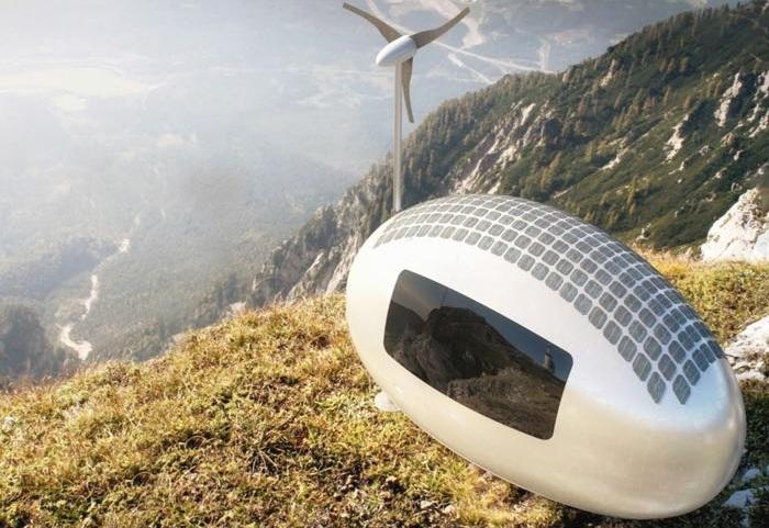 Ecocapsule - футуристический концепт мини-дома.