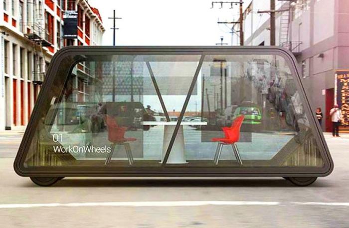 Мобильный офис, предназначенный для функционирования в городе.
