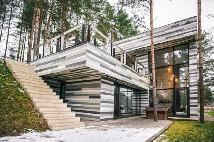 Экологически чистый дом, расположенный в окрестностях Вильнюса.
