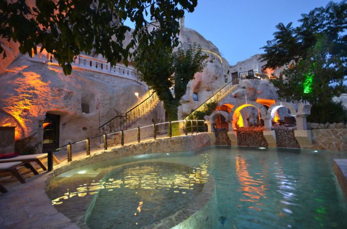 Gamirasu Cave - отель, построенный на месте византийского монастыря.