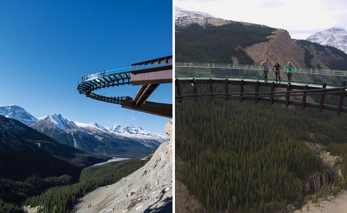 Смотровая площадка в Национальном парке Jasper National Park расположена на высоте 450 метров.