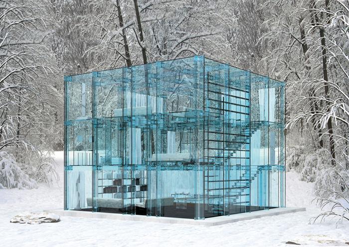 Стеклянный дом от итальянского архитектурного бюро Santambrogio Milano. | Фото: abu.by.