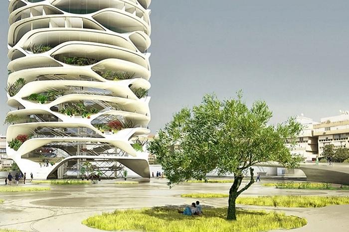 Проект небоскреба от бельгийского архитектора David Tajchman.