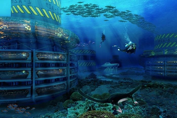 Проект эко-отеля в Карибском море.