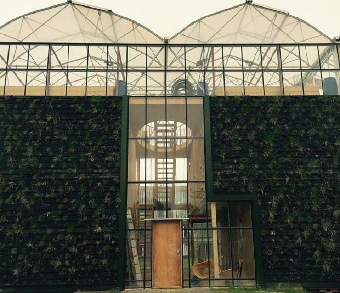 Частный дом с вертикальными садами.