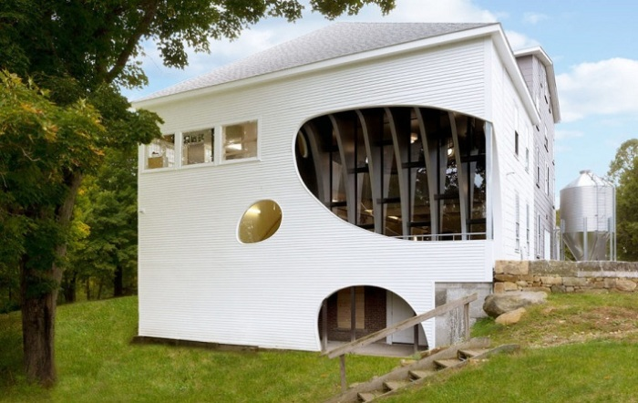 Обновленный вид школы в Нью-Гемпшире (США).