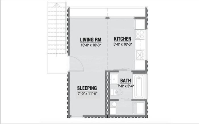 Схема расположения комнат в модели HO2.