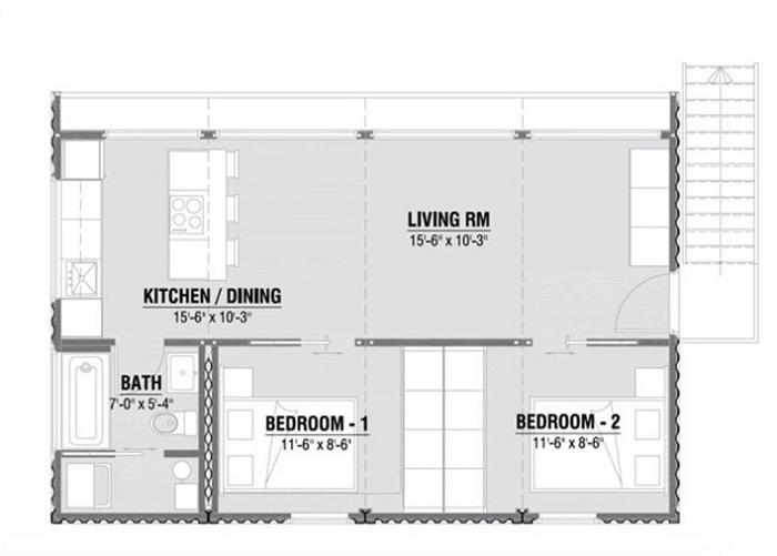 Схема расположения комнат в модели HO4.