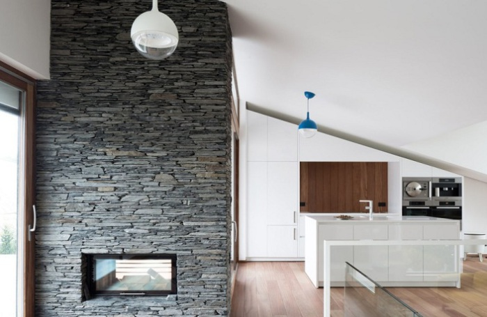 Pibo. В доме использованы натуральные отделочные материалы.