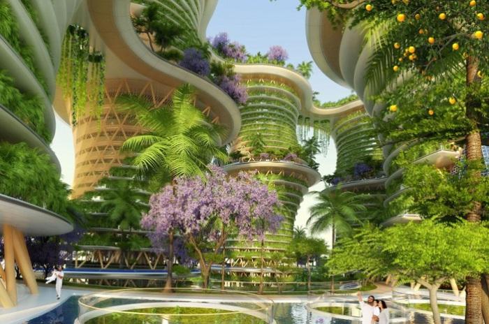 Hyperions - будущий эко-район в Нью-Дели.