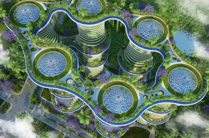Футуристический проект от бельгийского архитектора Vincent Callebaut.
