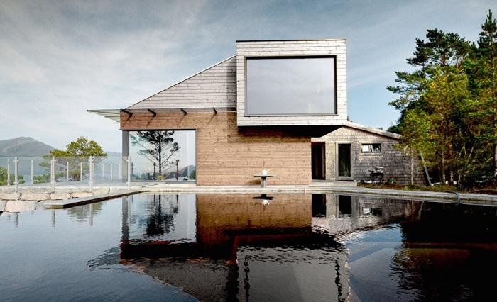 Дом отдыха в Норвегии. Бассейн.