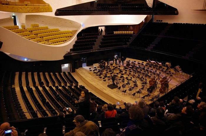 Парижская филармония. Концертный зал.