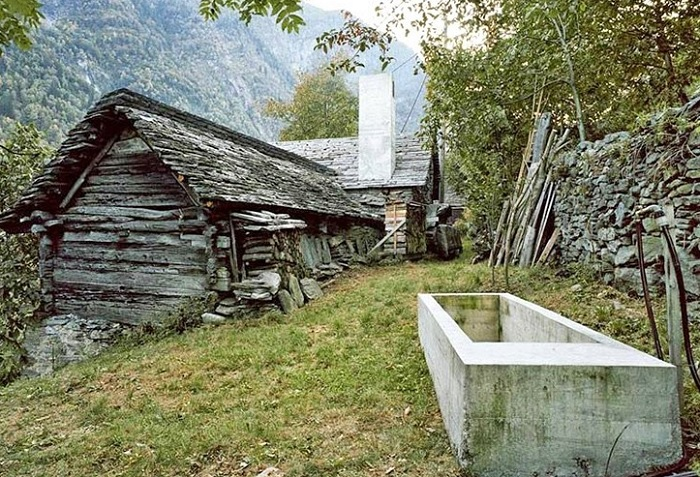 200-летний дом в Швейцарии.